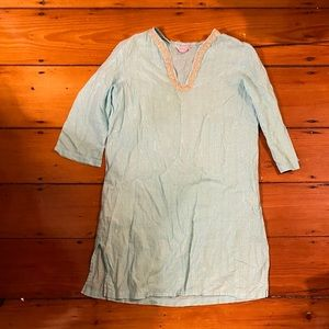 Lilly Pulitzer Turquoise gold striped tunic